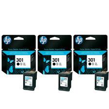 3x Original HP 301 Black Ink Cartridges For DeskJet 3050A Inkjet Printer