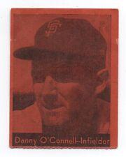 1958 Call Bulletin SF Giants Baseball Card O' Connell