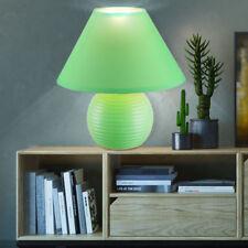 Lampe de table chambre d'invité côté céramique lampe lecture textile abat-jour