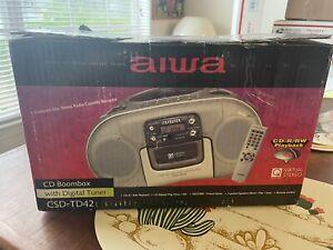 Aiwa CSD-TD42 CD/Cassette Boombox NIB
