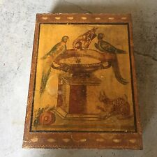Vintage Italian Florentine Gold Gilt Box W/ Birds Peacocks Pheasents Hollywood