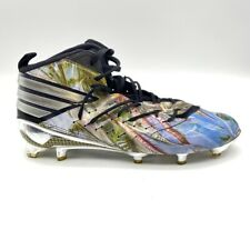 Adidas Mens Football Shoes Blue Metallic Lace Up High Top Cleats AQ8214 12