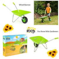Little Roots Childs Metal Wheelbarrow Kids Gardening Tools Garden Games Activity