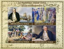 Chad 2018 MNH Captain James Cook 4v M/S Flags Boats Ships Nautical Stamps