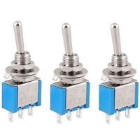 Miniature 5Pcs AC 125V 6A Mini Toggle Switch SPDT 3 Pins 2 Position