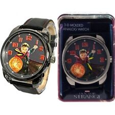 Doctor Strange 3-D Molded Men's Analog Big Face Dial Wrist Watch In Gift Tin NEW