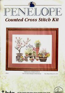 Penelope Cross Stitch Kit Terrace Collection 2 Pattern Counted Anchor 28 X 38cm