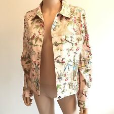 Catherine Stewart For BellePointe Jacket Size Large Pink Oriental Floral