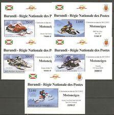 Schneemobile - Burundi - 2933-2937 5 Bl. ** MNH 2012