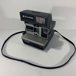 Polaroid Sun 600 LMS Instant Land Camera Black Inc Strap