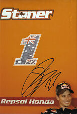 Casey Stoner SIGNED 12x8, Repsol-Honda Portrait 2012