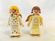 Playmobil 2 Little Angel Girls w Wings, Princess for Nativity, Victorian Castle