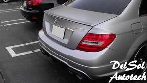 2008-14 Mercedes-Benz W204 W 204 C350 C-350 C63 4-dr AMG type Trunk Spoiler lip