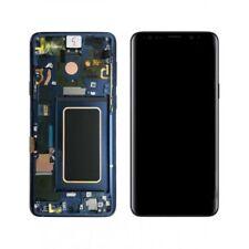 Pantalla con marco ORIGINAL de Samsung para Samsung Galaxy S9 color Azul