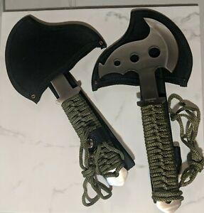 "Stainless 10.5"" Hunting / Throwing Survival Tactical Hatchet w/Sheath & Paracord"