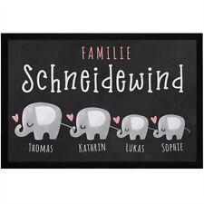 Fußmatte Familie mit Namen personalisiert Elefanten Wunschnamen individuell