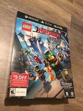 Rare- Ninjago Movie - The Video Game - Promo Poster Box 16X11X3 Box Art Only