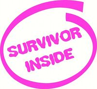 Breast Cancer 'Survivor Inside' Pink Car Decal  Sticker Truck Decal PINK Charity