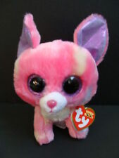 "NWT TY Beanie Boos 6"" CANCUN Chihuahua Dog Pink Boo Purple Glitter Eyes Toy NEW"