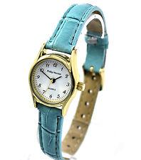 Philip Mercier Donna Aqua Blue orologio al quarzo con cinturino in finta pelle, di facile lettura
