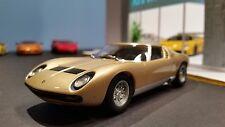 AutoArt SLOT Car 1:32 Lamborghini MIURA Gold Lighting Lamps NEW Scalextric