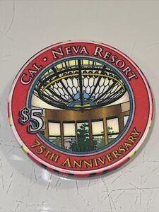 CAL NEVA RESORT $5 Casino Chip LAKE TAHOE Nevada 3.99 Shipping