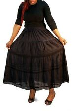 TIERED BOHO PEASANT GYPSY SKIRT ONE SIZE FITS MOST 1X-3X ASSORTED COLORS
