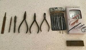 Vintage Assorted Precision Watchmaker Tools