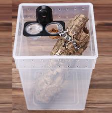 Reptile Food Water Feeder Bowl Tortoise Gecko Feeding Dish Pet Supplies New 1pc