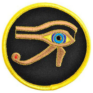 """Eye of Ra NEW Embroidered Patch 3"""" Sew-On Clothing Pagan Egyptian Horus"""