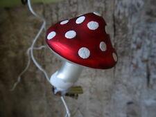 Deko Pilz aus Glas mit Klammer, rot, Weihnachtsbaumschmuck Fliegenpilz
