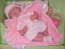 "Berenguer Boutique Baby Girl Doll  15.5"" Soft Bodied & Birth Certificate"