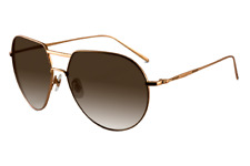 LOREE RODKIN COLLECTION BY ASHTON JAPAN SUNGLASSES MATTE GOLD COLOR TITANIUM.NEW