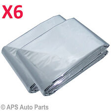 New 6pc Outdoor Survival Emergency Rescue First Aid Space Foil Thermal Blanket