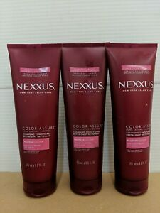 LOT OF 3 Nexxus Color Assure Cleansing Conditioner Long Lasting Vibrancy 8.5 oz.