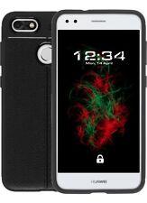 Cáscara Para Huawei P9 LITE MINI (piel) Cubierta del iPad tpu-l Negro