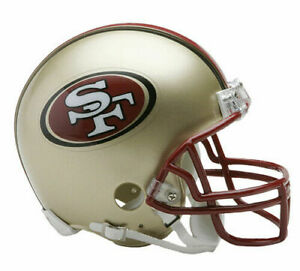 San Francisco 49ers 1996-2008 96-08 Throwback Riddell Football Mini Helmet New