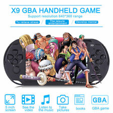 Handheld 5'' LCD 8GB GBA NES X9 Video Console Game MP5 Game Player 32Bit TF PC
