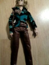 Brown faux leather pants & long sleeve dress shirt for FR Integrity Male dolls.