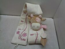 NOUKIE'S LOLA COW 2004 AMTOYS PLUSH CLOTH GROWTH CHART 24' TO 60""