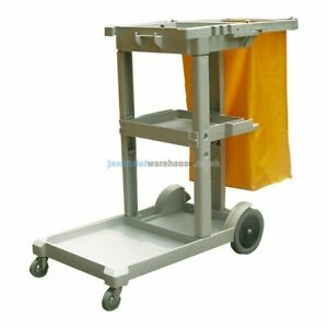 Janitorial Housekeeping Cart / Cleaners Cart Jolley Trolley MC160