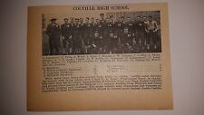 Colville & Cle Elum Washington High School 1928 Football Team Picture