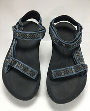 Teva  Men's Sandals Brown Blue Tan Sport Sandals Size 8
