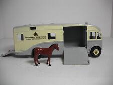 RARE VINTAGE DINKY SUPERTOYS #979-G MAUDSLEY RACE HORSE TRANSPORTER RESTORED NM!