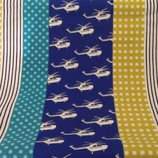 Stripe Helicopter Aviation Flight Cotton Sewing Echino Fabric by  Etsuko Furuya