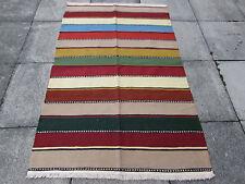 Tradicional Old hecha a mano de lana persa oriental Kilim 183x118m colorido straipy