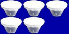 "Five 7"" White Diffuser Sock for Speedotron Reflector Beauty Dish New"