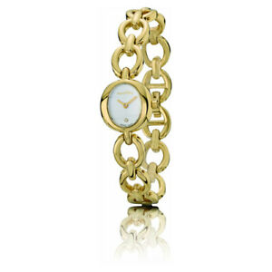 Pandora 18K Gold Circles Watch with .005ct Diamond