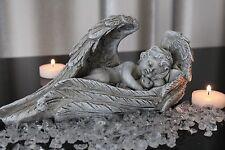 Deko Grabschmuck Engel im Flügel Hund Katze 24cm Grabdeko Figur Gedenkstein Tier