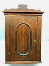 """27"""" Antique Victorian Walnut Wall Hanging Cabinet circa1860 w 2 Drawers"""